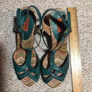 Miz Mooz turquoise strappy  sandals